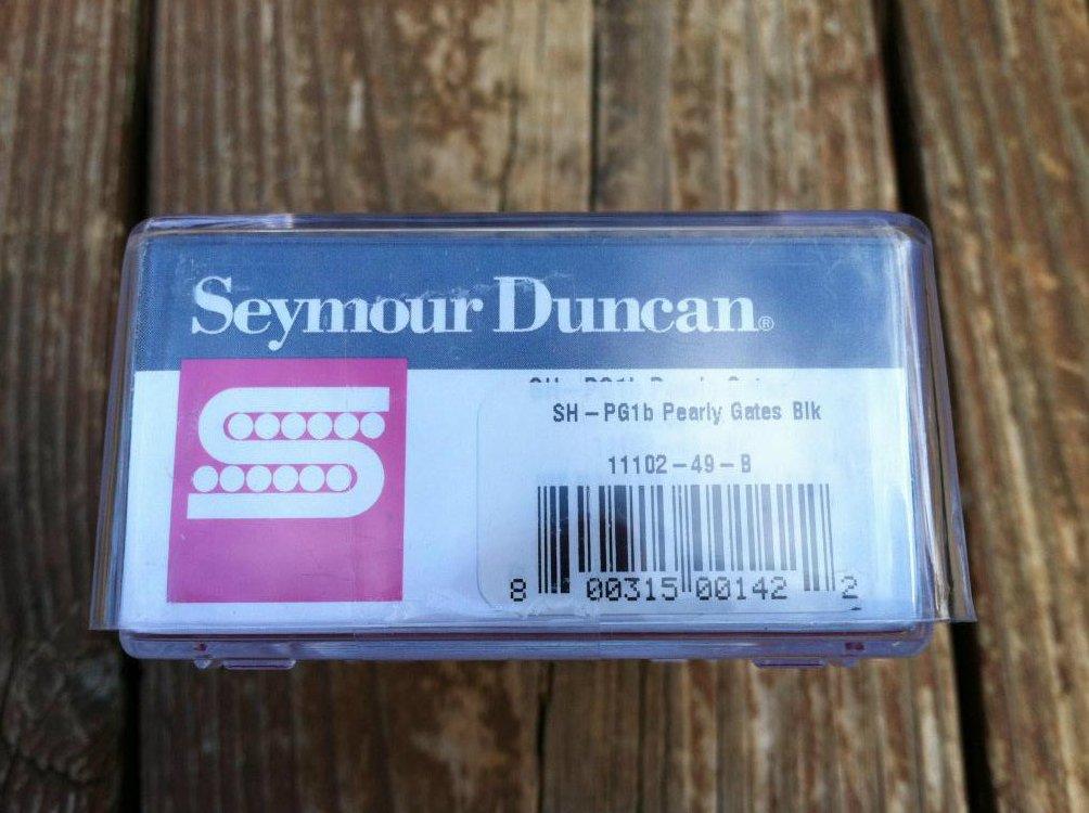 Image 2 of Seymour Duncan SH-PG1b Pearly Gates Strat Humbucker Pickup BLACK Bridge - NEW