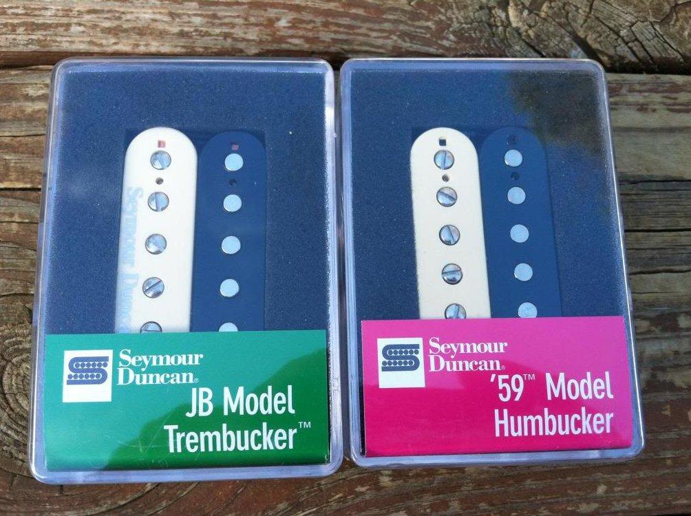 Seymour Duncan TB-4 JB & SH-1n 59 Trembucker Pickup SET Pickups ZEBRA - NEW