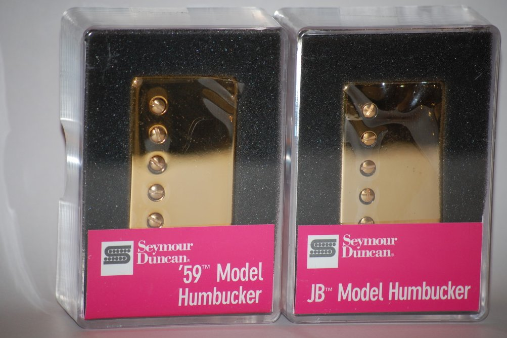 Seymour Duncan SH-4 JB & SH-1n 59 GOLD Humbucker Pickup Set Pickups Guitar