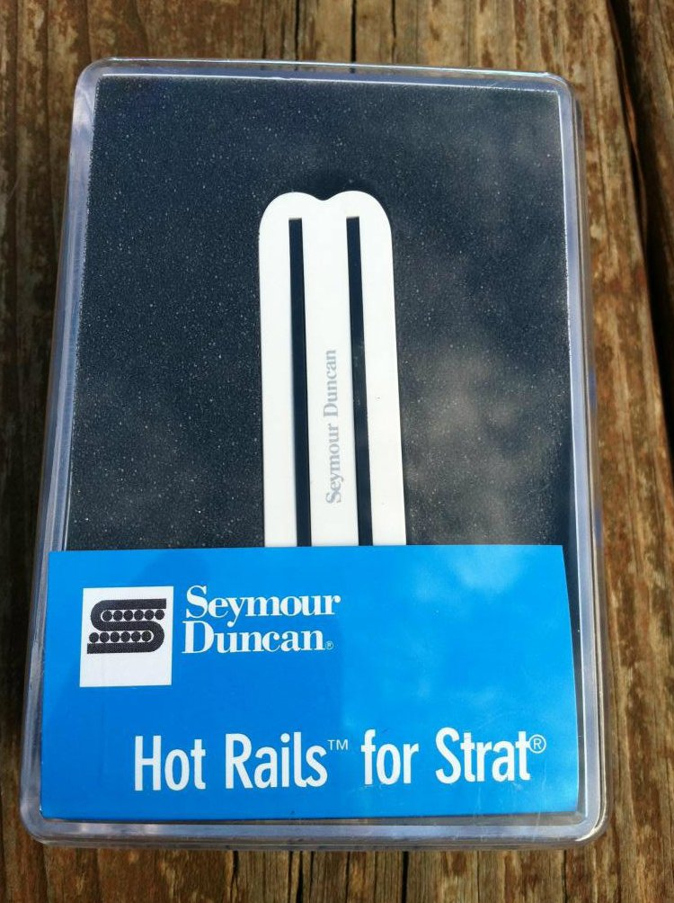 Seymour Duncan SHR-1b Hot Rails Strat BRIDGE Pickup WHITE - Fender Stratocaster