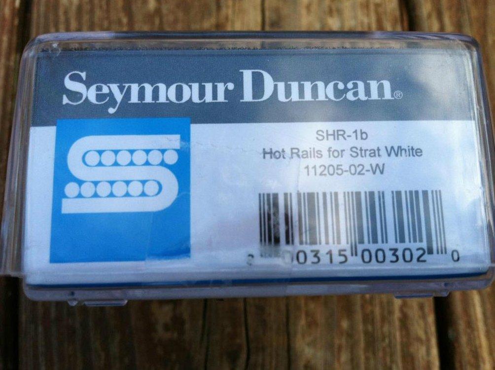 Image 2 of Seymour Duncan SHR-1b Hot Rails Strat BRIDGE Pickup WHITE - Fender Stratocaster