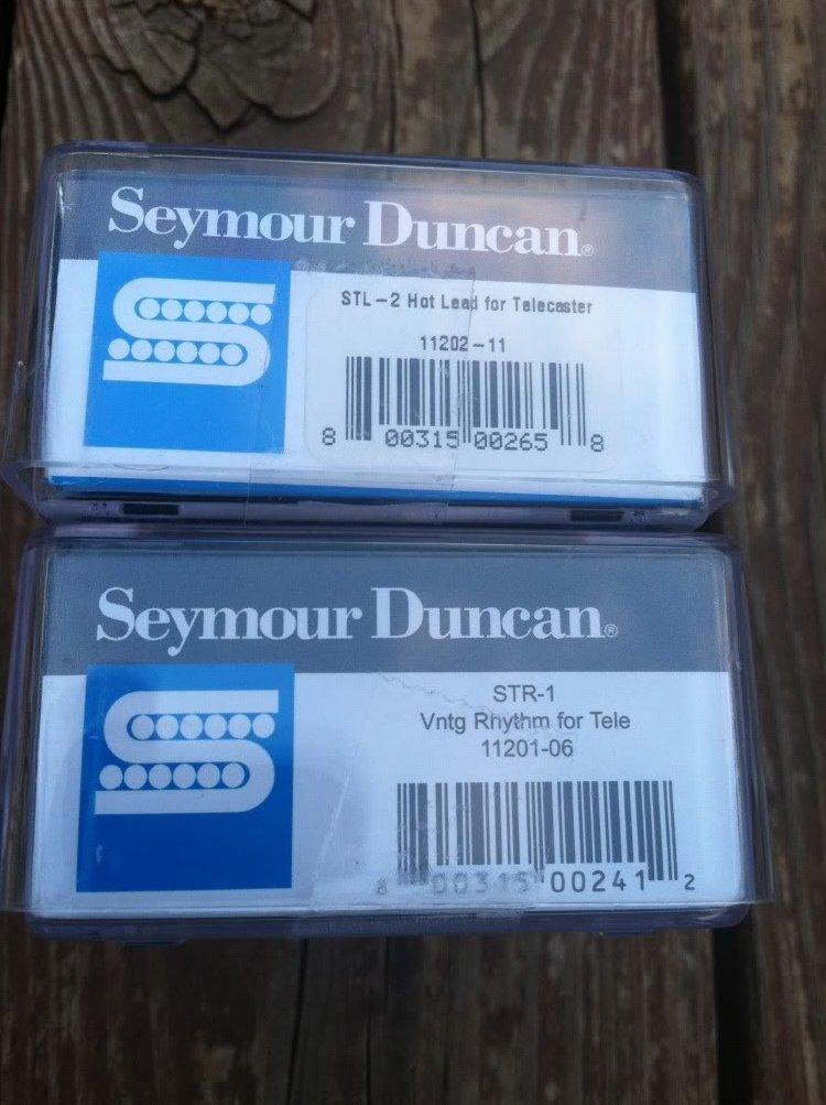 Image 2 of Seymour Duncan STL-2 Hot & STR-1 Vintage Tele PICKUP SET Fender Telecaster NEW