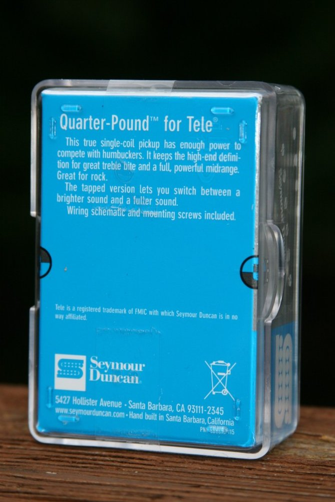 Image 1 of Seymour Duncan STL-3 Quarter Pound Tele Bridge Guitar Pickup Fender Telecaster
