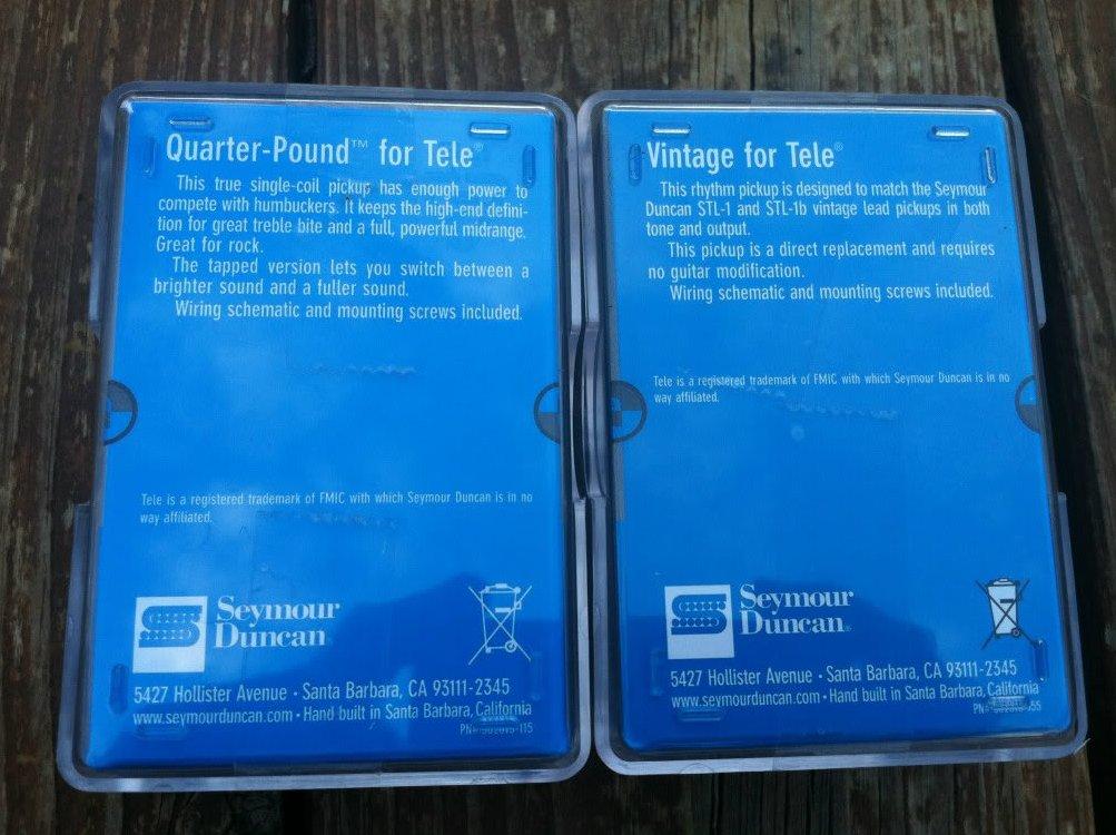 Image 1 of Seymour Duncan STL-3 Quarter Pound STR-1 Vintage Tele PICKUP SET Telecaster NEW