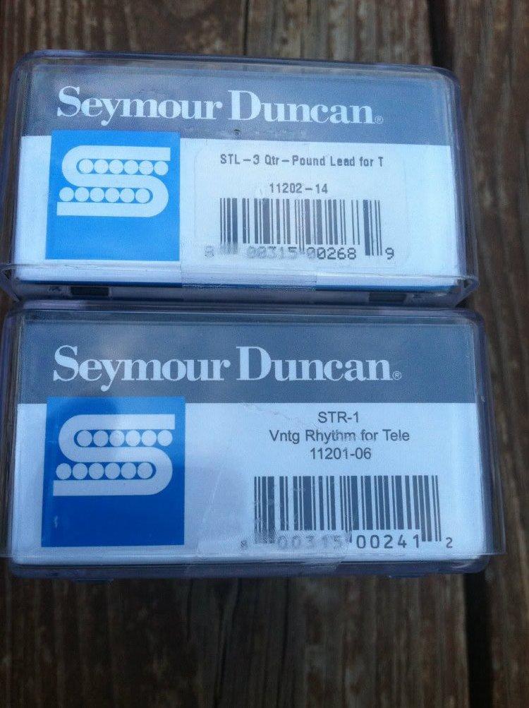 Image 2 of Seymour Duncan STL-3 Quarter Pound STR-1 Vintage Tele PICKUP SET Telecaster NEW