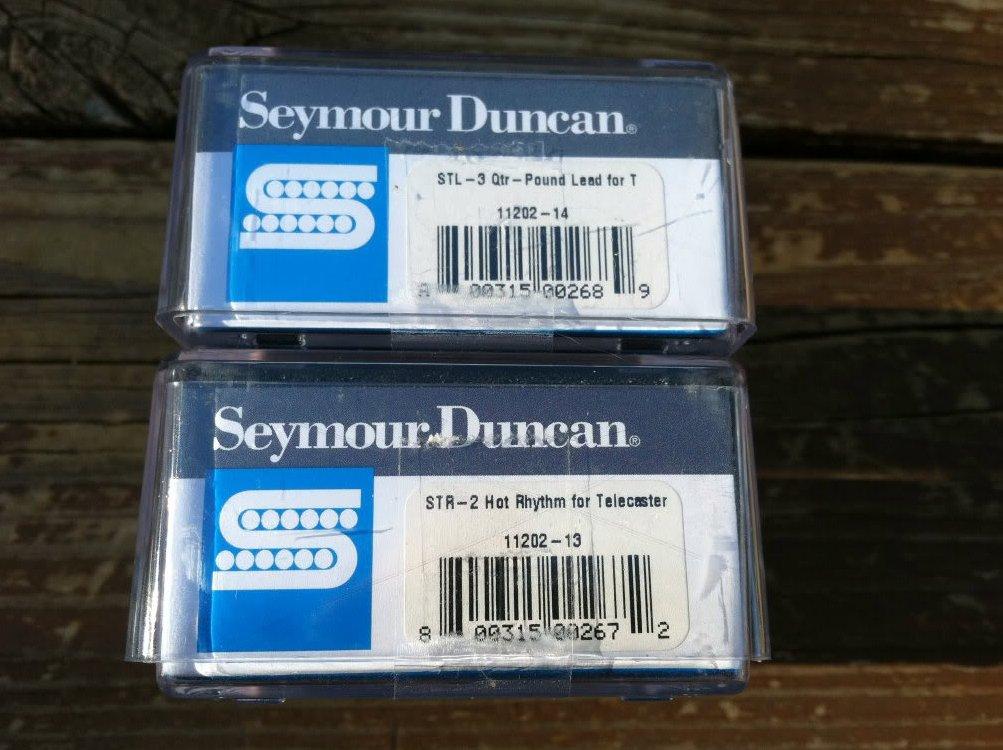 Image 2 of Seymour Duncan STL-3 Qtr Pound Bridge & STR-2 Hot Rythm Neck Tele Guitar Pickups