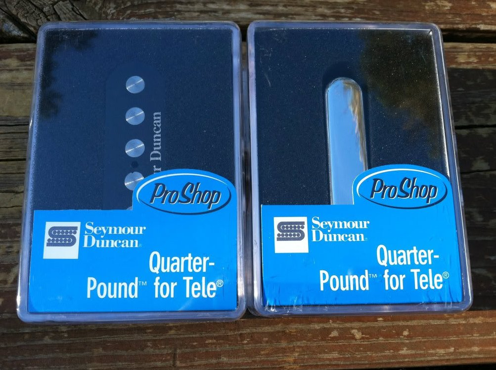 Seymour Duncan STL-3 Qtr Pound Bridge & STR-3 Qtr Pound Rhythm Tele Pickup Set