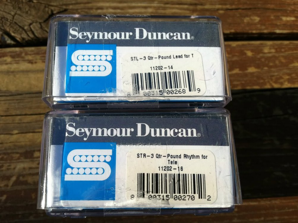 Image 2 of Seymour Duncan STL-3 Qtr Pound Bridge & STR-3 Qtr Pound Rhythm Tele Pickup Set