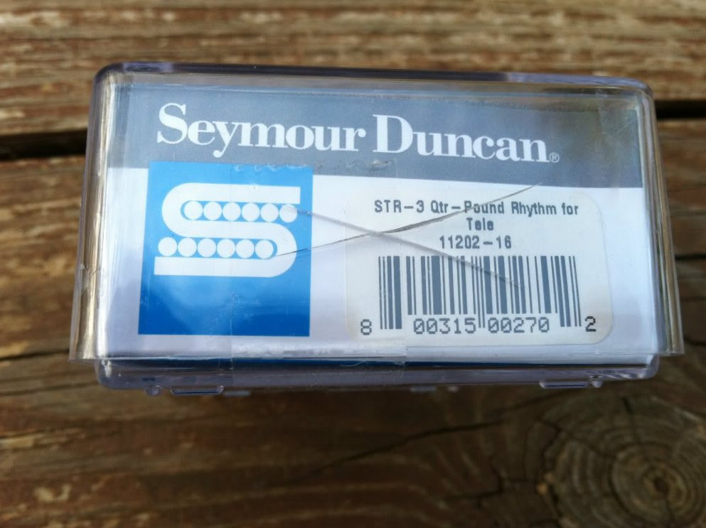 Image 2 of Seymour Duncan STR-3 Quarter Pound Rhythm Telecaster Neck Pickup Chrome Tele