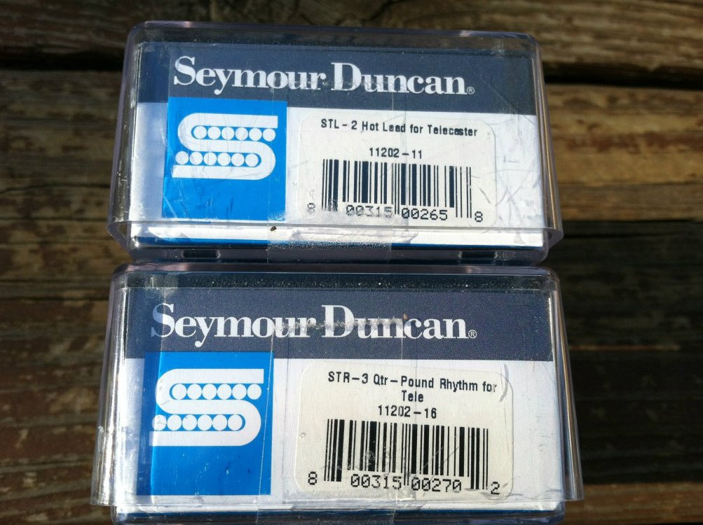 Image 2 of Seymour Duncan STL-2 Hot Lead Bridge & STR-3 Qtr Pound Rhythm Neck Tele Pickups