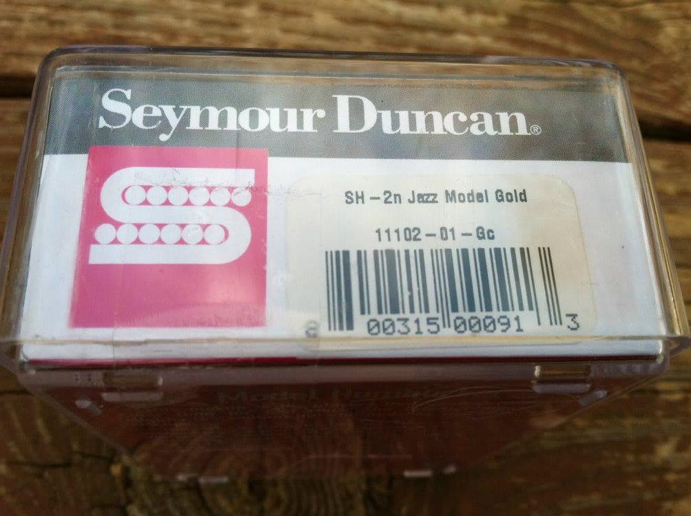 Image 2 of Seymour Duncan SH-2 Jazz Model Humbucker Guitar Pickup GOLD Neck Rhythm - NEW