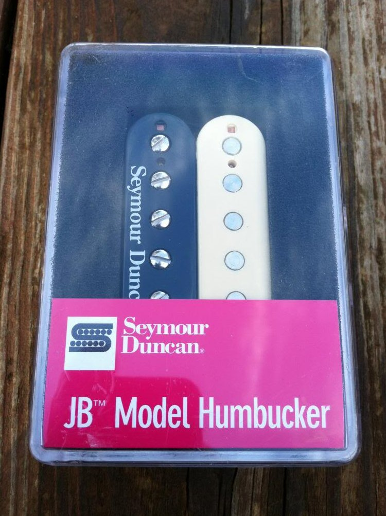 Seymour Duncan SH-4 JB REVERSE ZEBRA Humbucker Electric Guitar Pickup - NEW