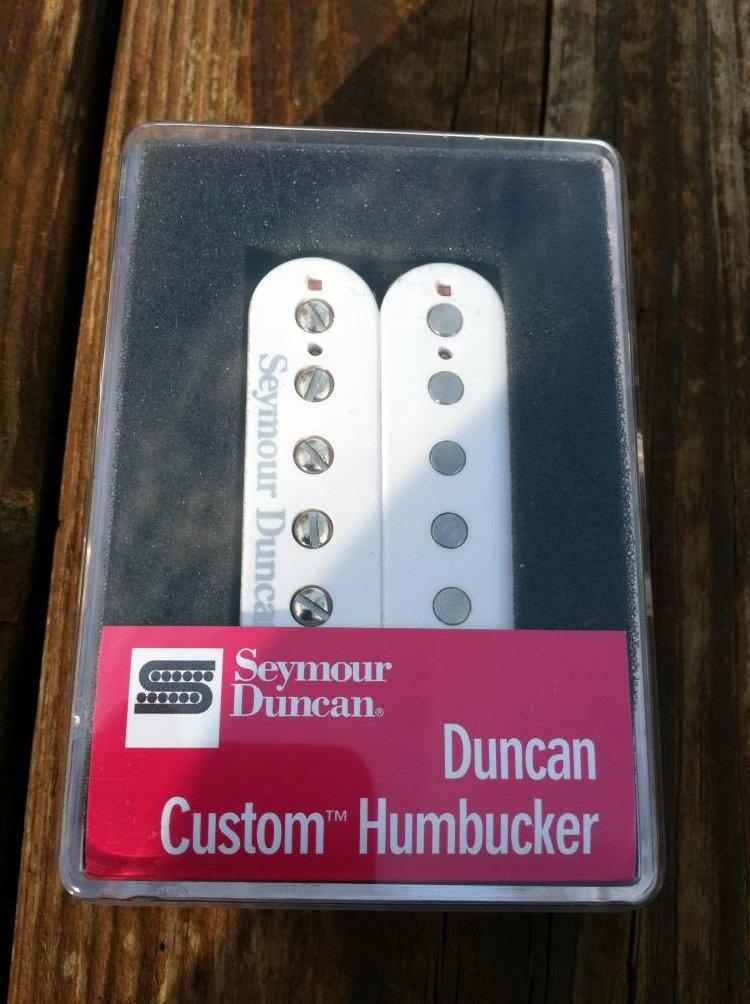 Seymour Duncan SH-5 Custom WHITE PAF Ceramic Humbucker Pickup - NEW