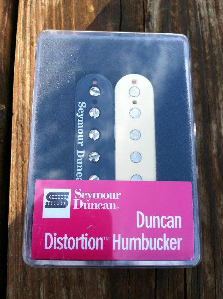 Image 0 of Seymour Duncan Distortion SH-6 Humbucker Pickup Bridge REVERSE ZEBRA - NEW