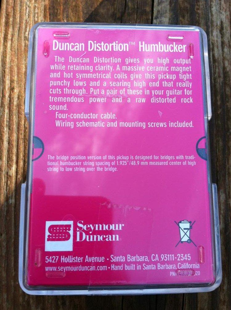 Image 1 of Seymour Duncan Distortion SH-6 Humbucker Pickup Bridge REVERSE ZEBRA - NEW