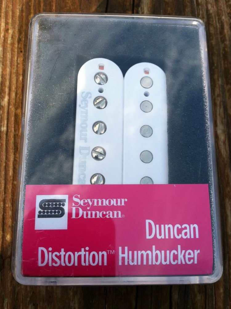 Image 0 of Seymour Duncan Distortion SH-6 Humbucker Pickup Bridge WHITE Electric Guitar