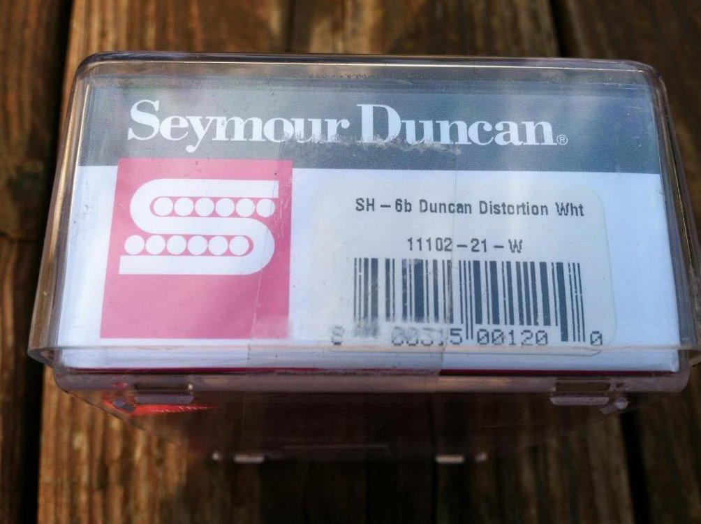 Image 2 of Seymour Duncan Distortion SH-6 Humbucker Pickup Bridge WHITE Electric Guitar
