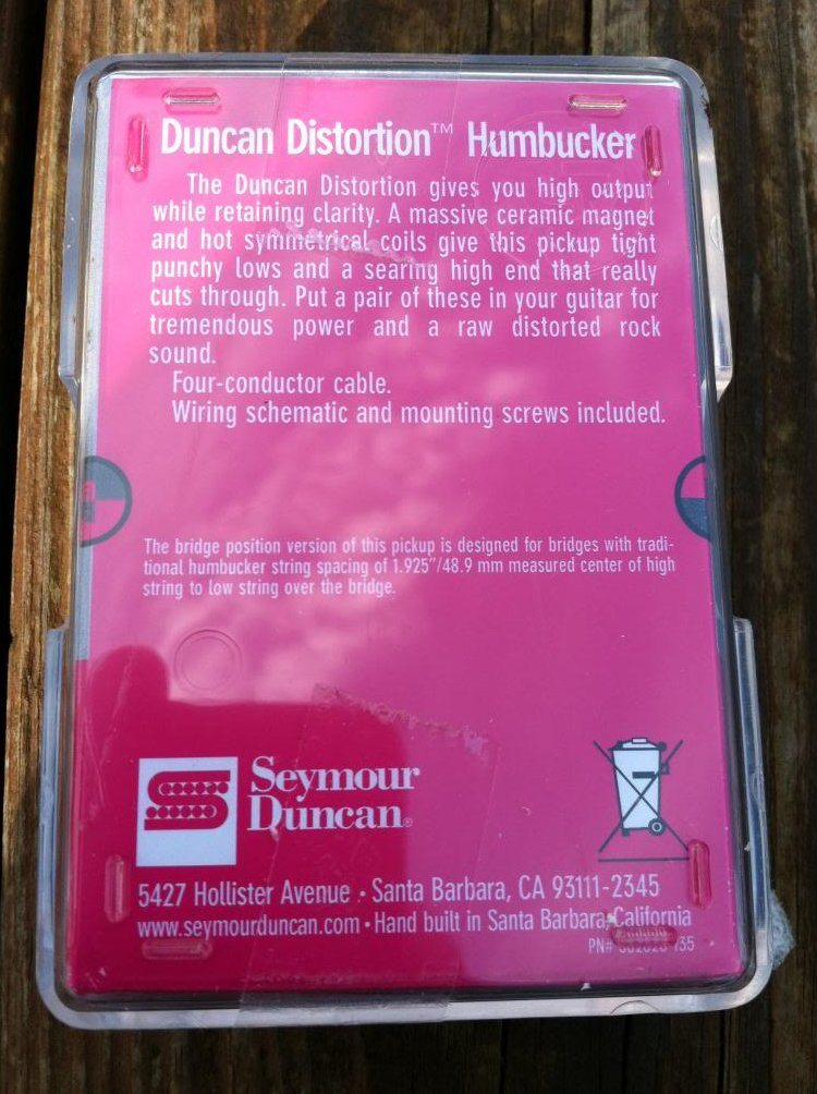 Image 1 of Seymour Duncan Distortion SH-6 Humbucker Pickup Bridge ZEBRA - NEW