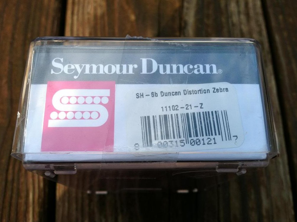 Image 2 of Seymour Duncan Distortion SH-6 Humbucker Pickup Bridge ZEBRA - NEW