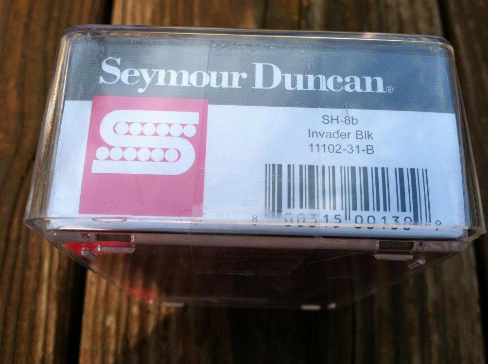 Image 2 of Seymour Duncan SH-8 Invader BLACK High Output Ceramic Humbucker Bridge Pickup