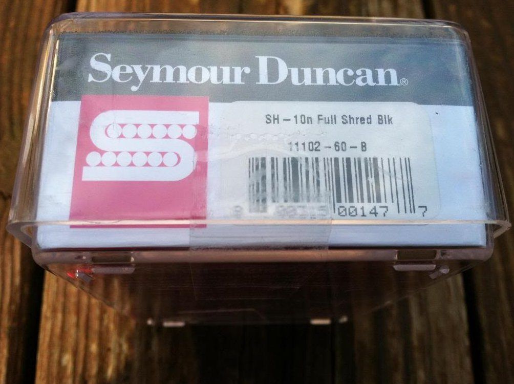 Image 2 of Seymour Duncan SH-10 Full Shred Humbucker Neck Pickup BLACK Metal High Output