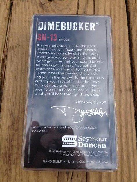 Image 1 of Seymour Duncan SH-13 Dimebucker Humbucker Bridge Pickup BLACK Ceramic Blade