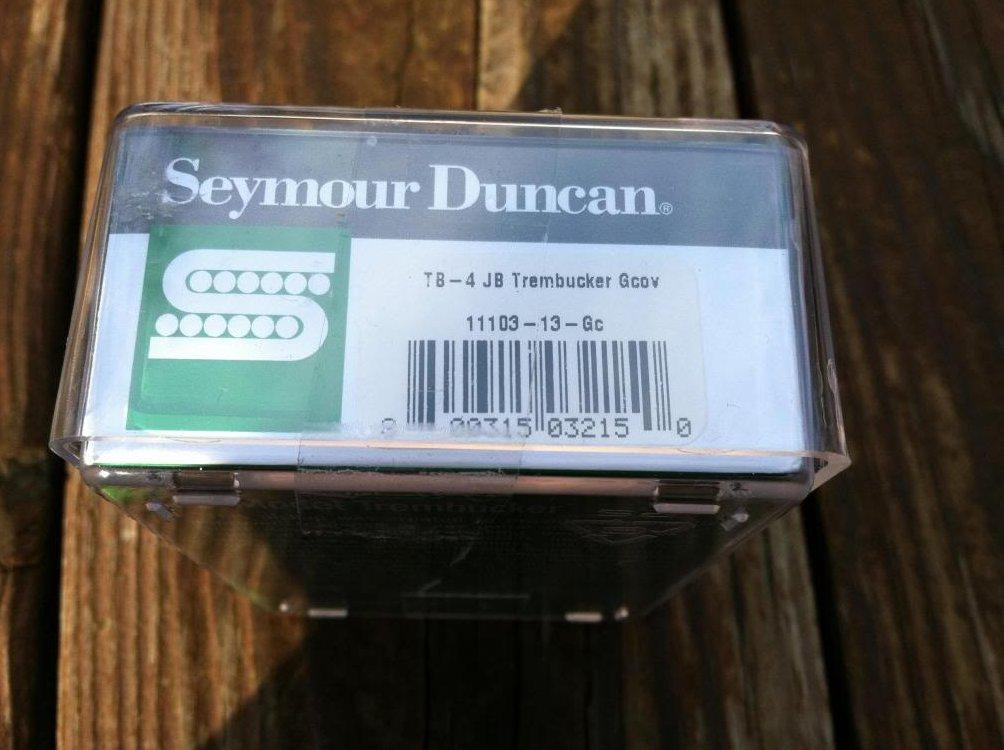 seymour duncan tb 4 jb trembucker humbucker pickup gold bridge guitar new. Black Bedroom Furniture Sets. Home Design Ideas