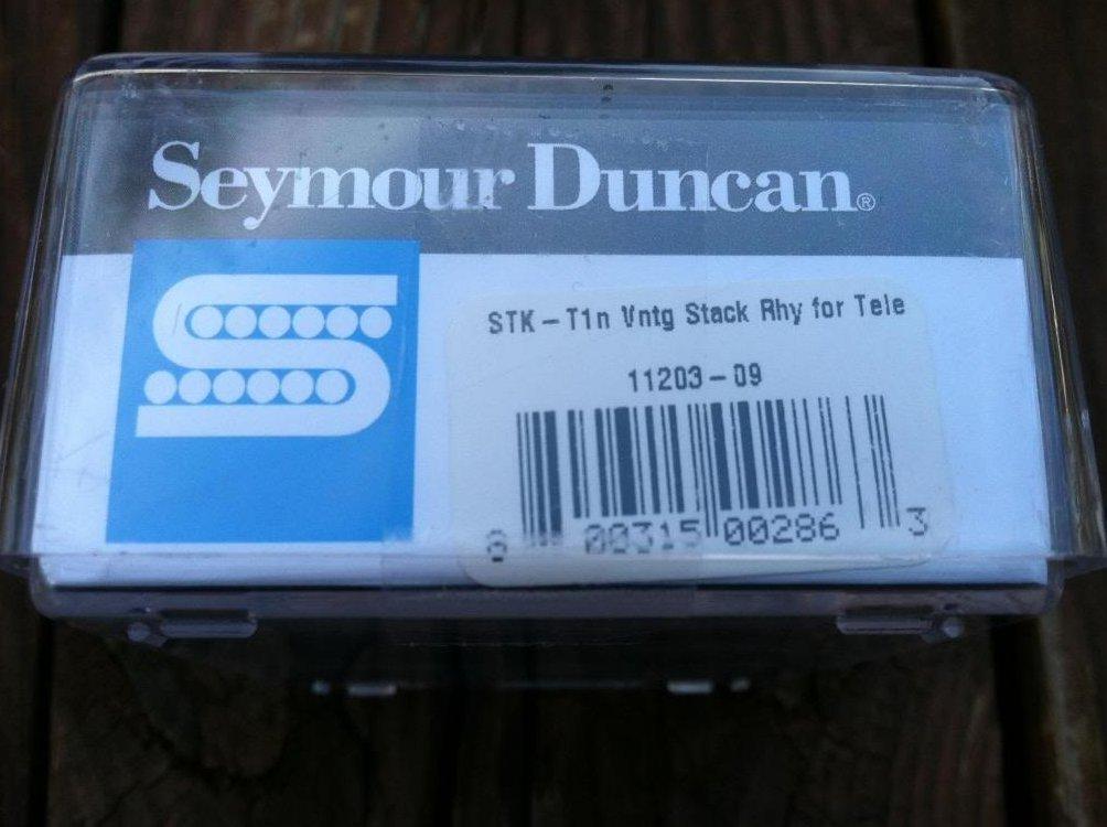 Image 2 of Seymour Duncan STK-T1 Vintage Stack Telecaster Neck Rhythm  Pickup CHROME - NEW