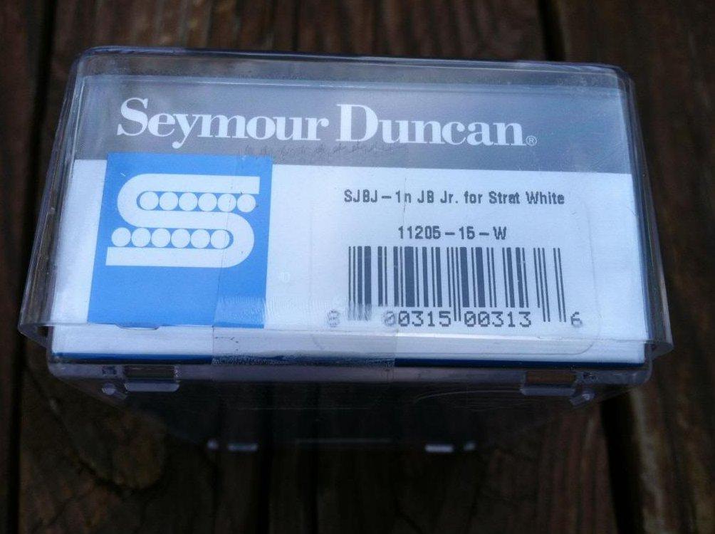 Image 2 of Seymour Duncan SJBJ-1 JB Jr Strat Pickup Middle/Neck WHITE Fender Stratocaster