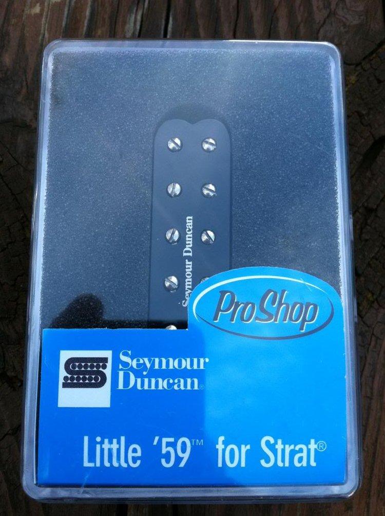 Seymour Duncan SL59-1 Little 59 Strat PAF Humbucker Neck/Middle Pickup BLACK NEW