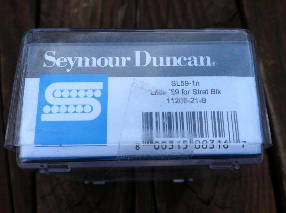 Image 2 of Seymour Duncan SL59-1 Little 59 Strat PAF Humbucker Neck/Middle Pickup BLACK NEW