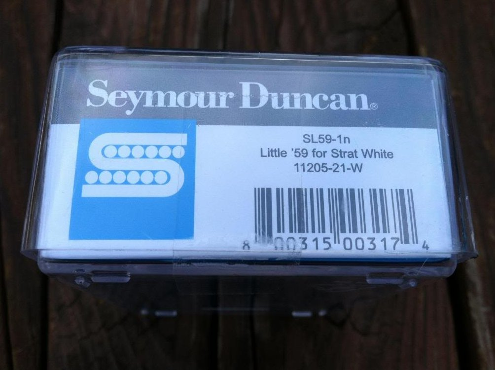 Image 2 of Seymour Duncan SL59-1 Little 59 Strat PAF Humbucker Neck/Middle Pickup WHITE NEW