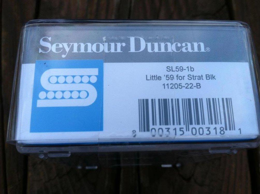 Image 2 of Seymour Duncan SL59-1 Little 59 Strat PAF Humbucker Bridge Pickup BLACK NEW