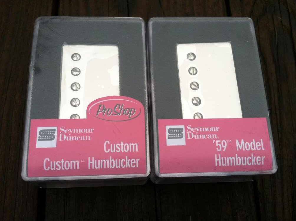 Seymour Duncan SH-11 Custom Custom Bridge & SH-1 59 Neck w/ NICKEL Covers - NEW