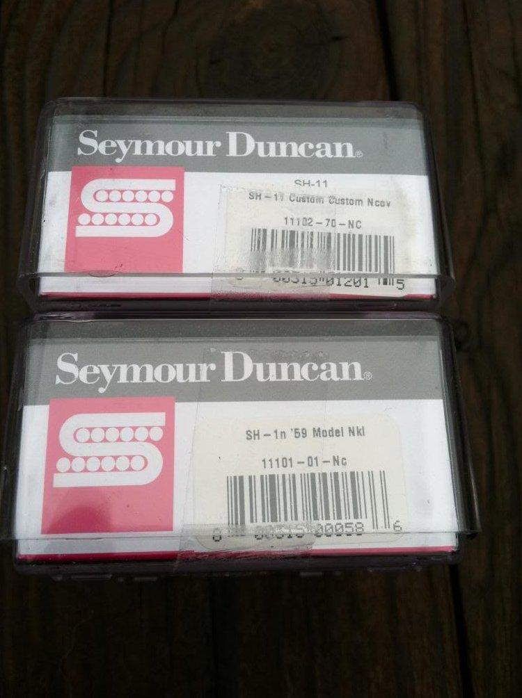 Image 2 of Seymour Duncan SH-11 Custom Custom Bridge & SH-1 59 Neck w/ NICKEL Covers - NEW
