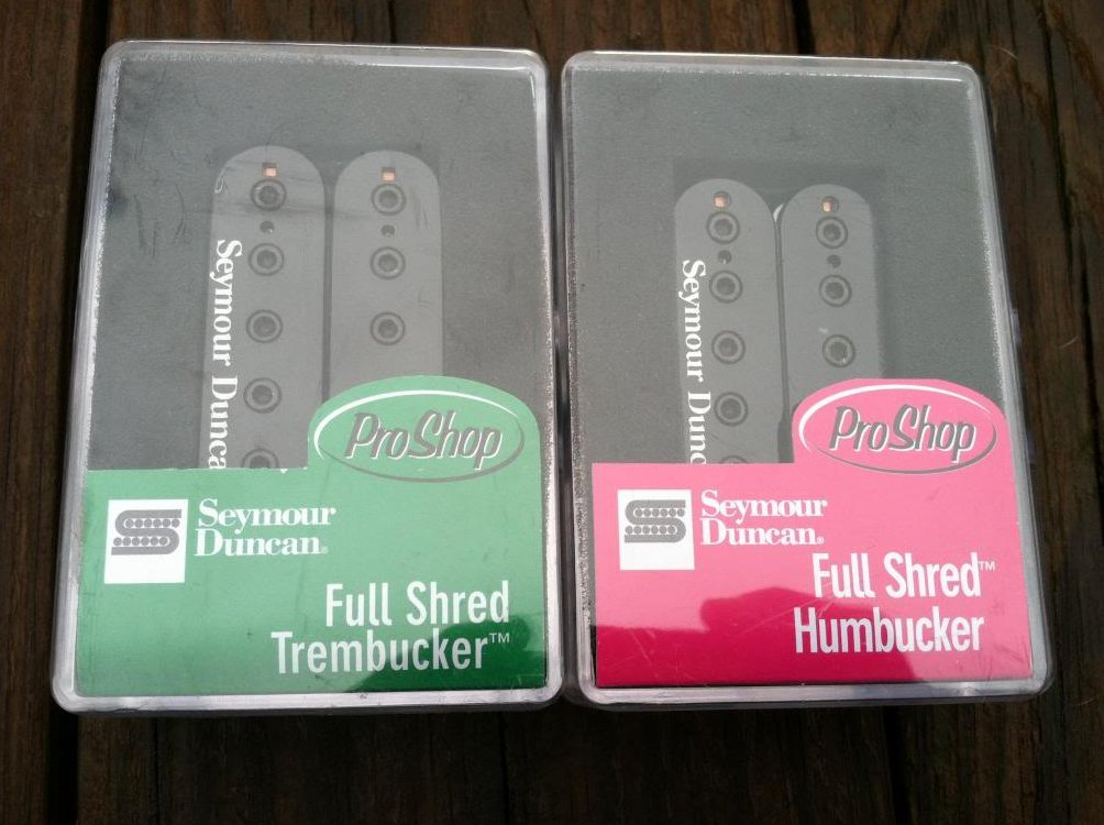Seymour Duncan TB-10 Trembucker & SH-10 Full Shred Humbucker Pickup Set BLACK