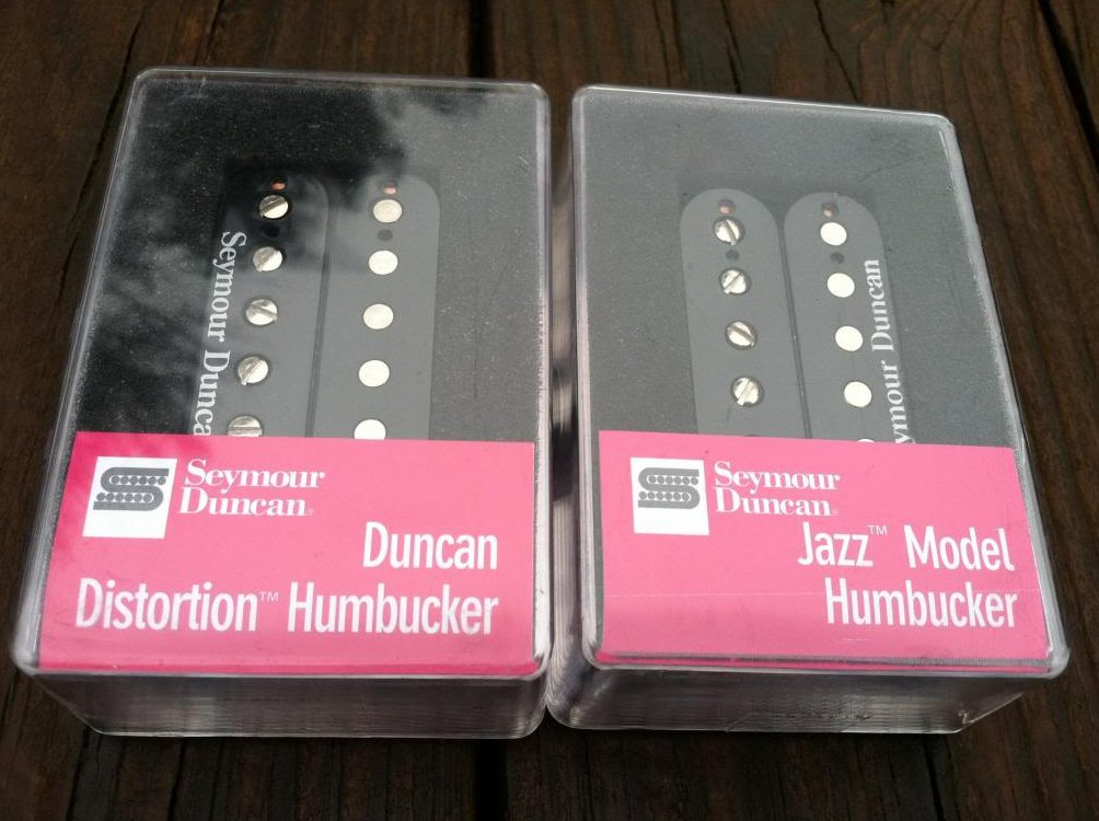 Seymour Duncan Distortion SH-6 Bridge SH-2 Jazz Neck Humbucker Pickup Set BLACK