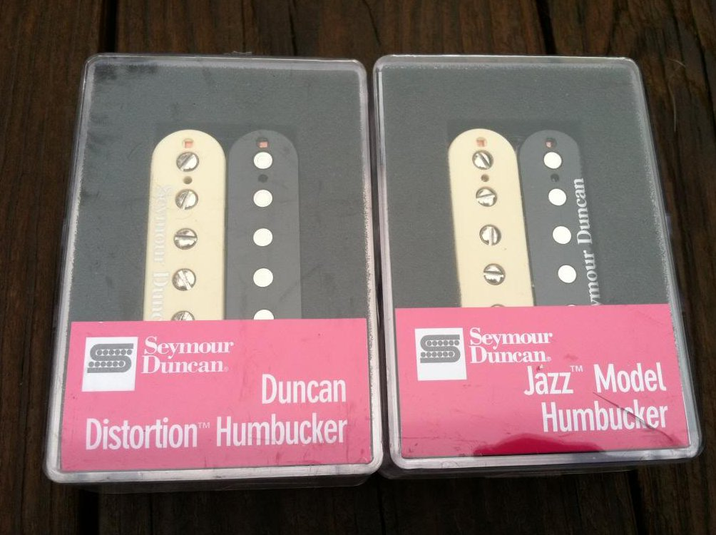 Seymour Duncan Distortion SH-6 Bridge SH-2 Jazz Neck Humbucker Pickup Set ZEBRA