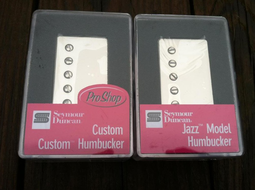 Seymour Duncan SH-11 Custom Custom Bridge & Sh-2 Jazz Neck Pickup Set NICKEL NEW