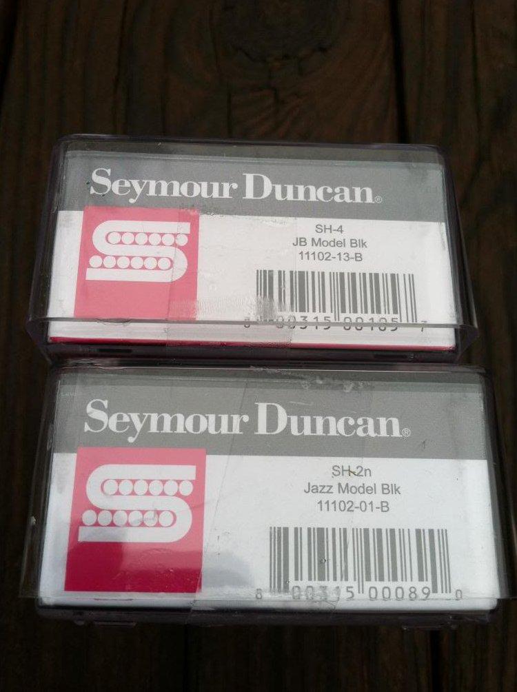 Image 2 of Seymour Duncan JB Jazz Hot Rodded PICKUP SET Humbucker SH-4 SH-2n BLACK - NEW