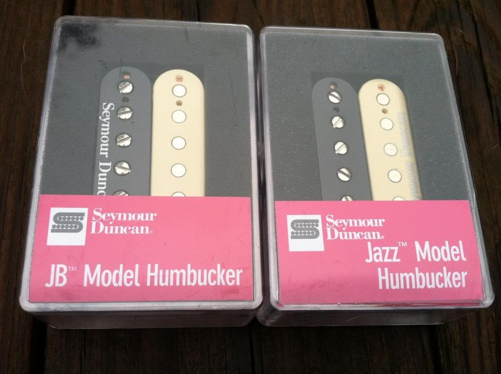 Seymour Duncan JB Jazz Hot Rodded PICKUP SET Humbucker SH-4 SH-2n REVERSE ZEBRA
