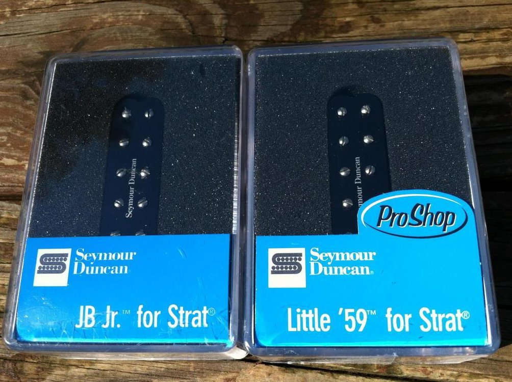 Seymour Duncan JB Jr & Little 59 Strat Pickup Set BLACK SJBJ-1b SL59-1n Fender