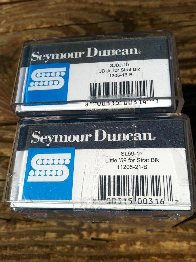 Image 2 of Seymour Duncan JB Jr & Little 59 Strat Pickup Set BLACK SJBJ-1b SL59-1n Fender