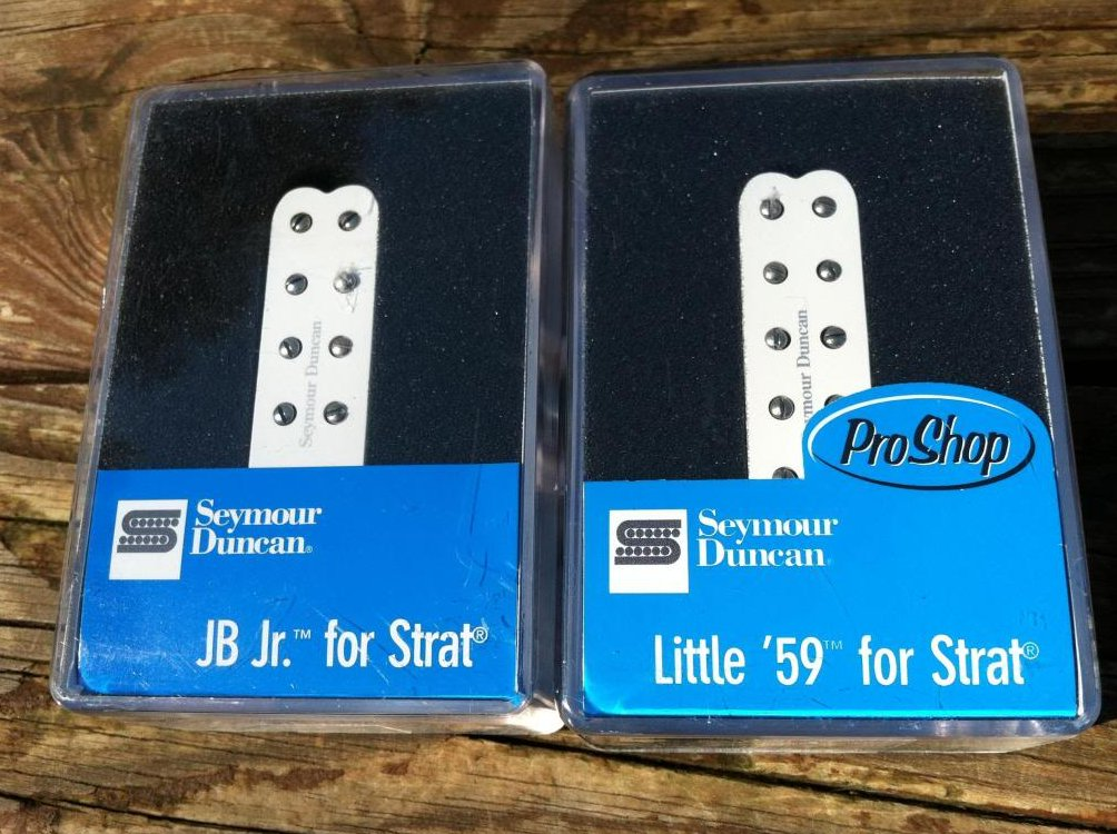 Seymour Duncan JB Jr & Little 59 Strat Pickup Set WHITE SJBJ-1b SL59-1n Fender