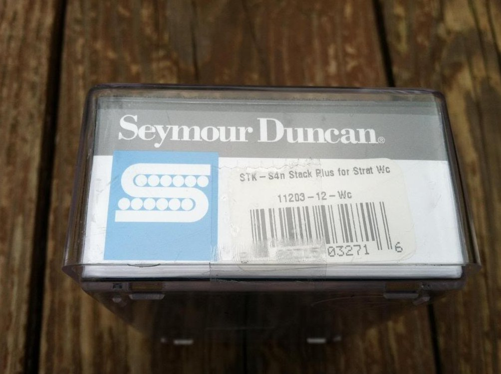 Image 3 of Seymour Duncan STK-S4 Classic Stack Plus Strat Stratocaster Neck Pickup WHITE