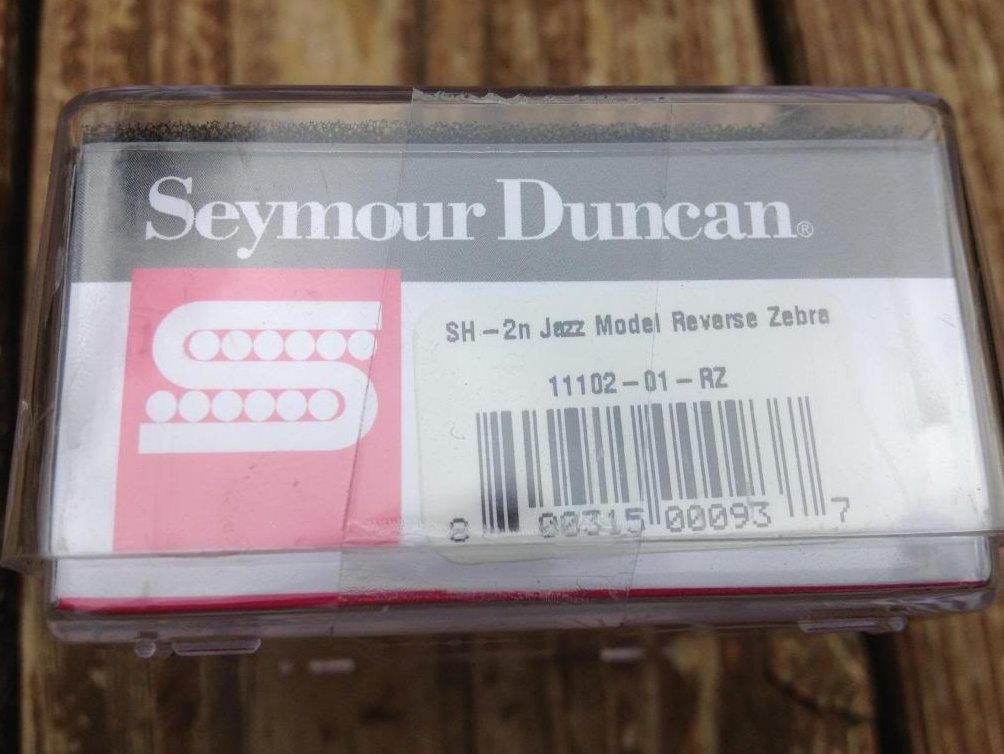 Image 2 of Seymour Duncan SH-2 Jazz Humbucker Guitar Pickup REVERSE ZEBRA Neck Rhythm - NEW