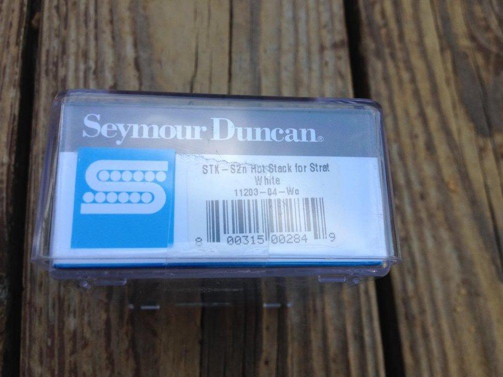 Image 2 of Seymour Duncan STK-S2n Hot Stack Strat Pickup Fender Stratocaster Neck White NEW