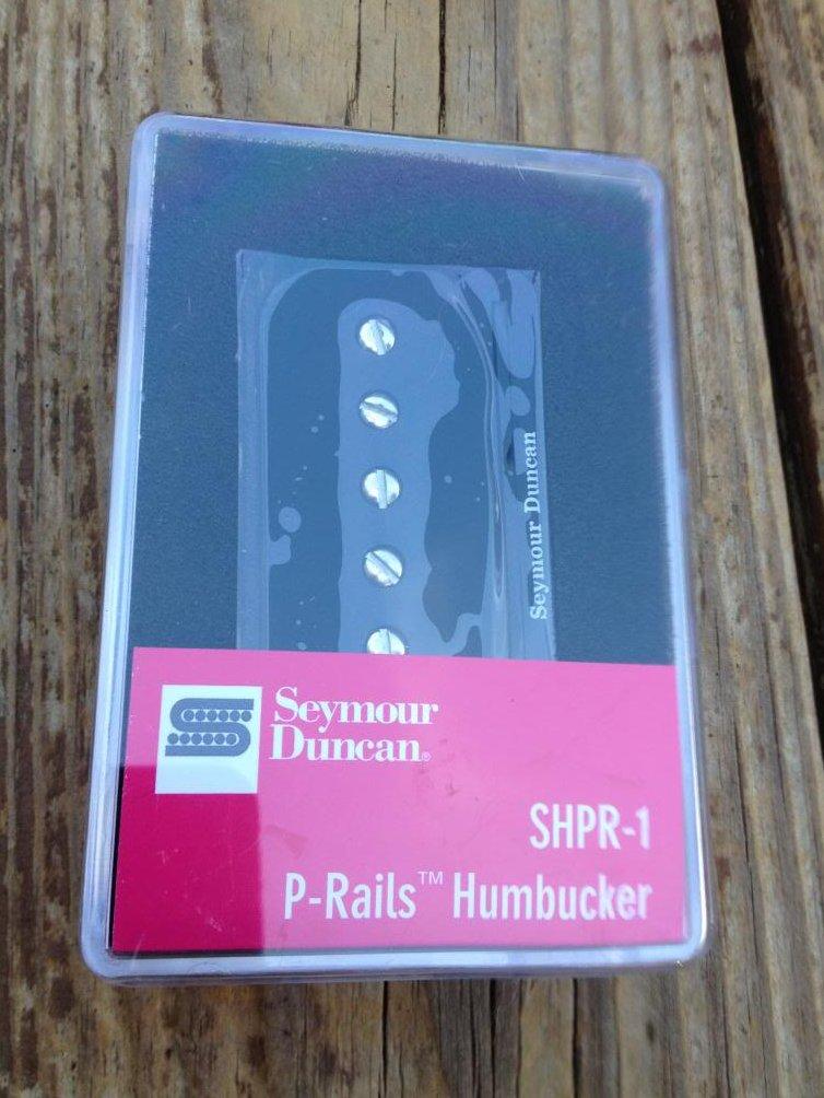 Seymour Duncan SHPR-1n P-Rails Humbucker Neck Pickup Black P-90 Hum / Single NEW