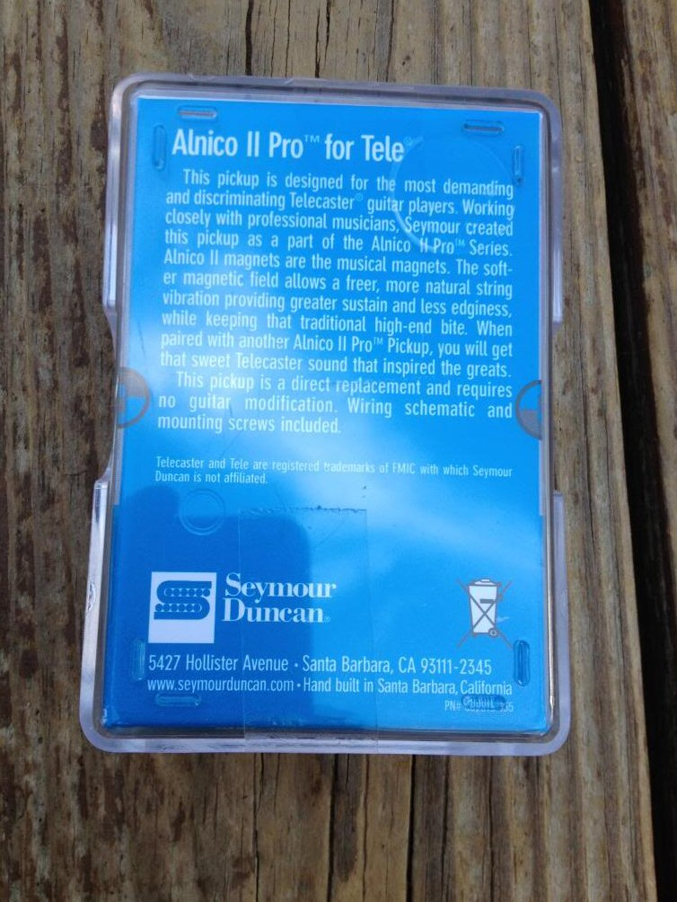 Image 1 of Seymour Duncan APTR-1 Alnico Pro II Rhythm Tele Pickup Fender Telecaster Neck