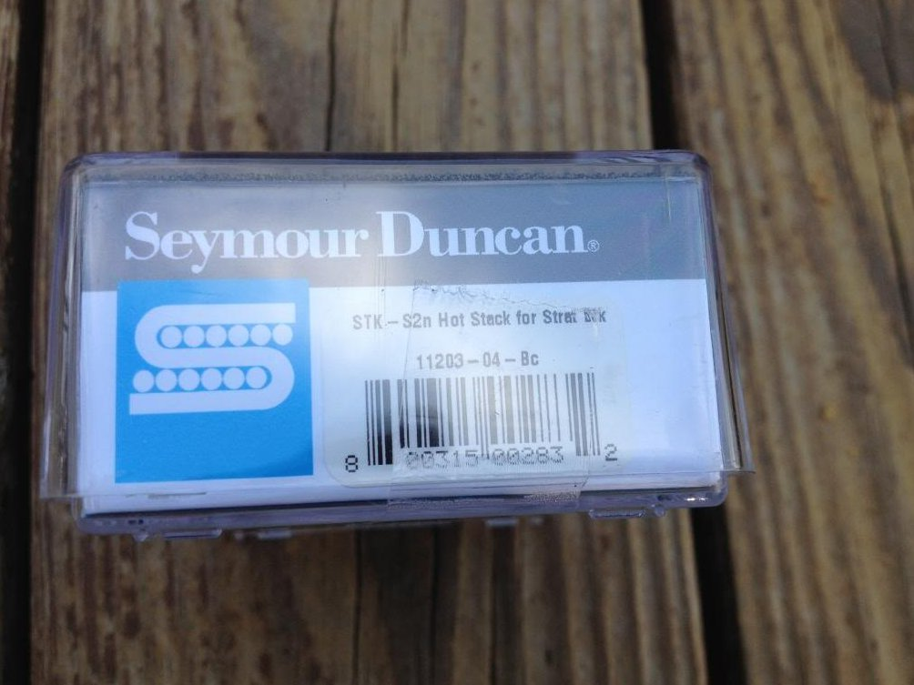 Image 2 of Seymour Duncan STK-S2n Hot Stack Strat Pickup Fender Stratocaster Neck Black NEW